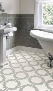 Neisha Crosland - Parquet Stone Bathroom