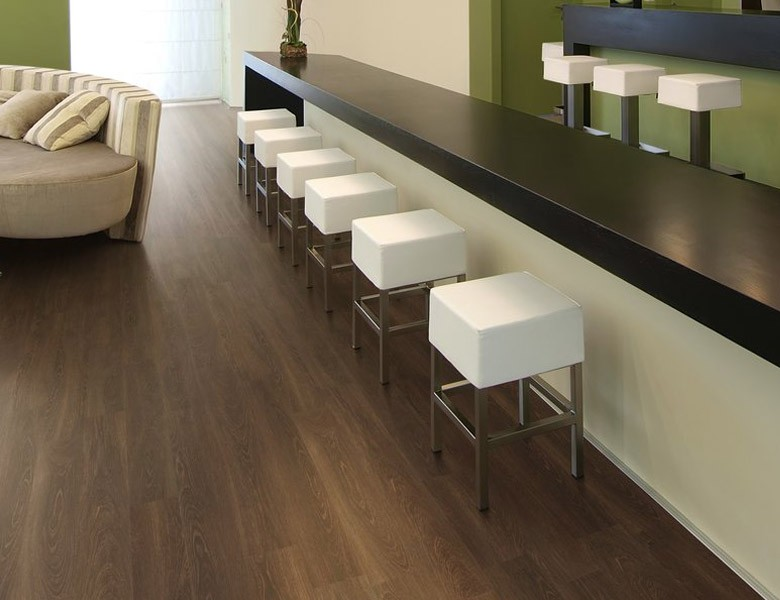A picture of vinyl flooring