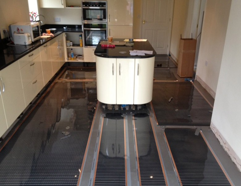 A Picture of a Domestic Underfloor Heating Installation