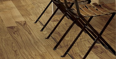 A picture of solid wood flooring