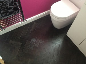 Bathroom Herringbone