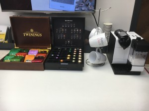 Choose from a selection of teas and coffees