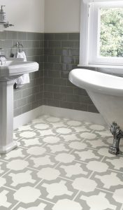 Neisha Crosland - Parquet Stone Bathroom