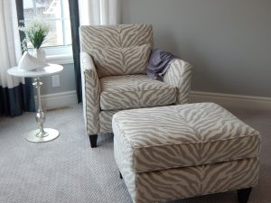 A picture of a chair and ottoman