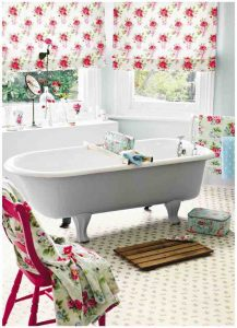 A picture of a cath kidston theme bathroom