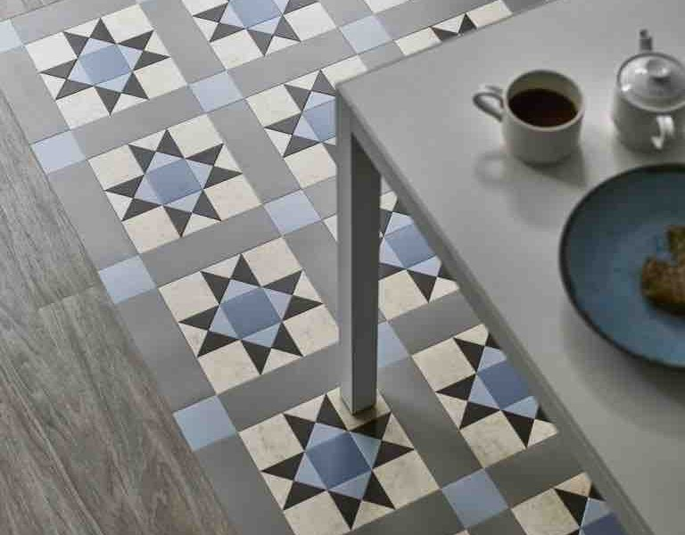 A picture of tile flooring