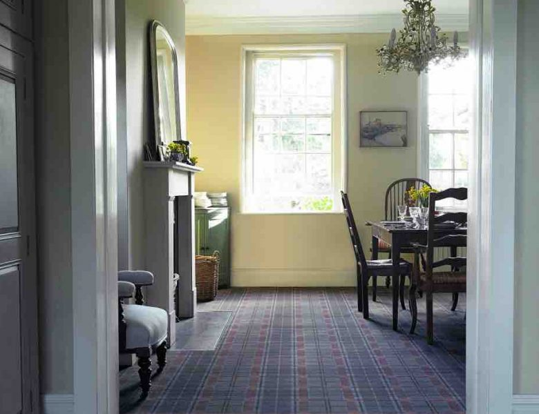 A picture of plaid carpet