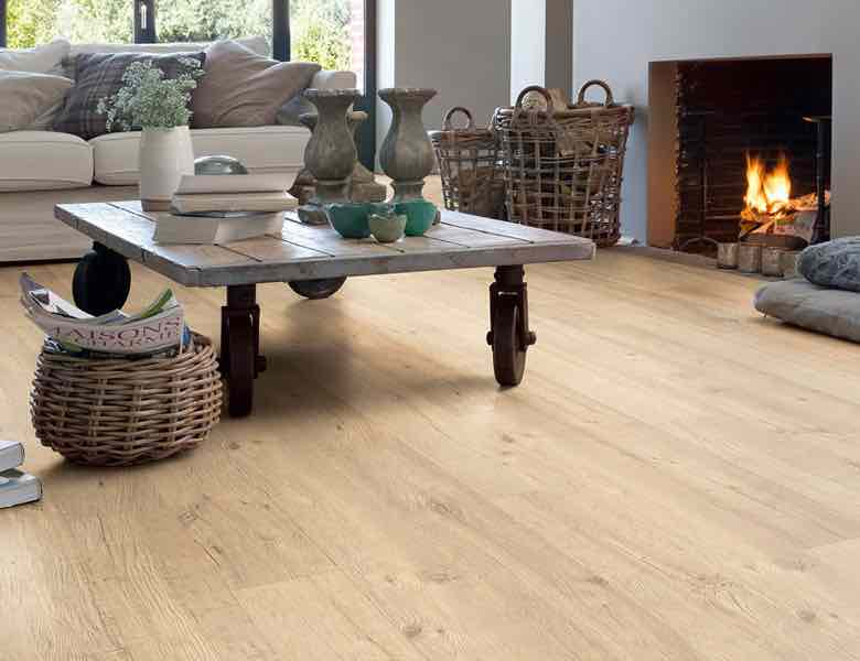 A picture of wood effect laminate flooring